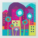 Colorful Town Canvas Print