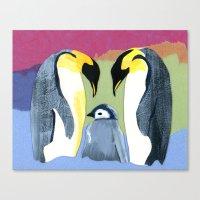 Penguin love Canvas Print