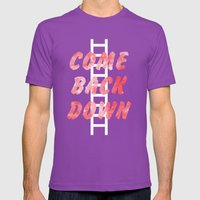 Come Back Down. Mens Fitted Tee Ultraviolet SMALL