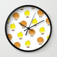 Oranges And Lemons Wall Clock