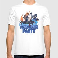 Assassin Party Mens Fitted Tee White SMALL