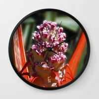 Succulent Blossom I Wall Clock
