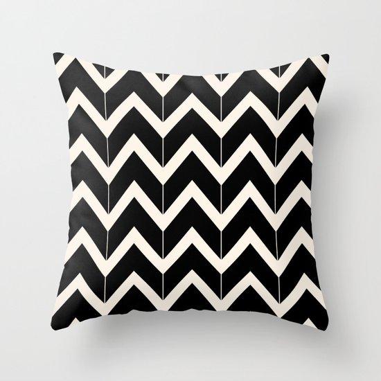 Black & Ivory Throw Pillow