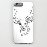 iPhone & iPod Case featuring The deer by limbergir