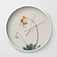 Yellow and pink Wall Clock