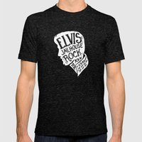 Jailhouse Rock Mens Fitted Tee Tri-Black SMALL