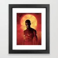 Illustrated Man Framed Art Print