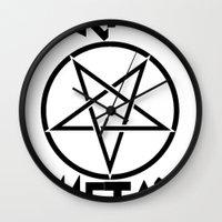 SLEAZE METAL Wall Clock