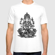 Ganesh Mens Fitted Tee White SMALL