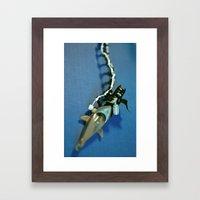 Shark Repellant Framed Art Print