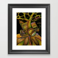 Drums- Rooted Beat Framed Art Print