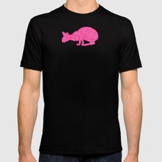 Pink Tammy Mens Fitted Tee Black SMALL