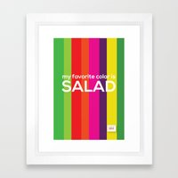 My favorite color is salad Framed Art Print