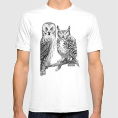 Bubo and Strix Mens Fitted Tee White SMALL