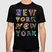 New York New York Mens Fitted Tee Black SMALL