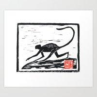 2016 Year Of The Monkey … Art Print