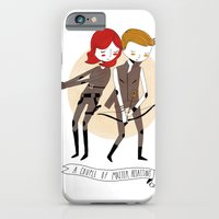 iPhone Cases featuring A Couple of Master Assassins by Nan Lawson