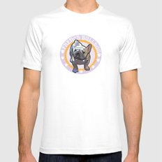 French bulldog White SMALL Mens Fitted Tee