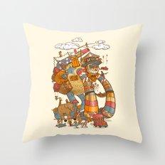 Circusbot Throw Pillow