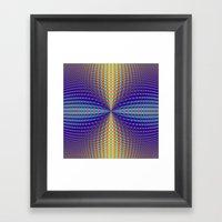 Circular Pinch In Color Framed Art Print
