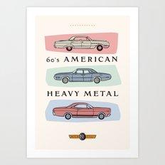 Motor Style Inc.: 60s American Heavy Metal Art Print