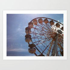 round and round we go Art Print