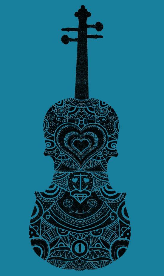 Analog zine - Fiddle Canvas Print