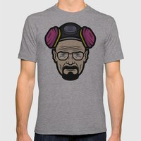 Walter White (Breaking Bad) Mens Fitted Tee Athletic Grey SMALL