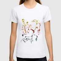 Jazzy Melody Womens Fitted Tee Ash Grey SMALL