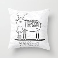 Apres Ski Throw Pillow