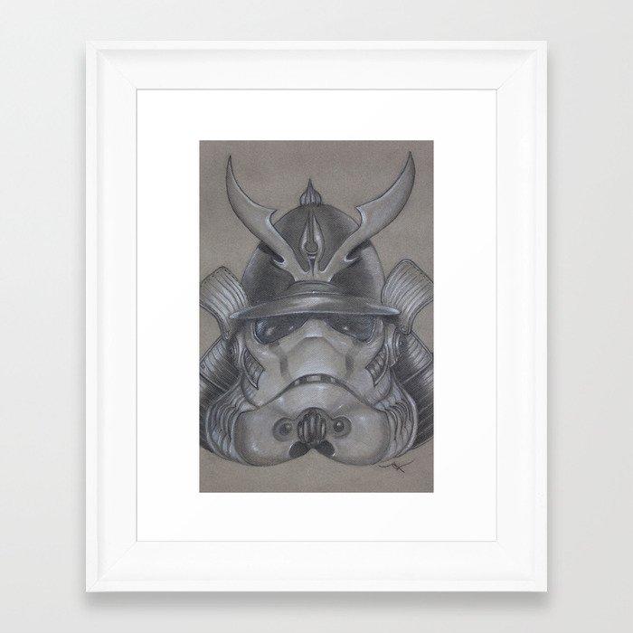 Stormtrooper Samurai Framed Art Print by JuturnAL | Society6
