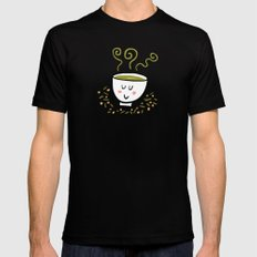 Genmaicha Tea Mens Fitted Tee Black SMALL