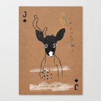 JACK OF SPADES Canvas Print