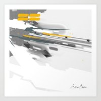 Dynamic Vector And Patte… Art Print