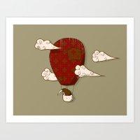 The Kiwi Learns To Fly Art Print
