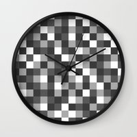 Colour Block Black and White Wall Clock