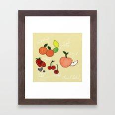 Mixed Fruit Illustration Framed Art Print