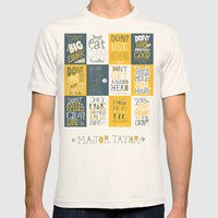 Major Taylor Grid Mens Fitted Tee Natural SMALL
