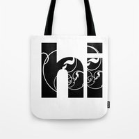Swirly hello Tote Bag