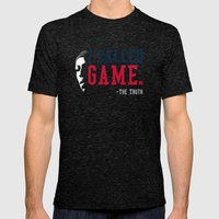 I-Called-GAME Mens Fitted Tee Tri-Black SMALL
