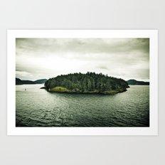 L'île Mysterieuse Art Print
