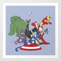 The Catvengers - Earth's Mightiest Kitties Art Print