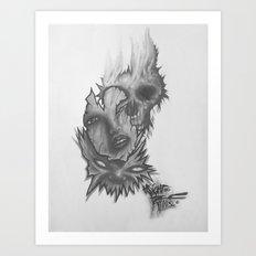 3 Faces Art Print