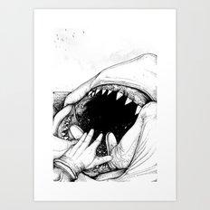 Jaws : Quint Death Art Print
