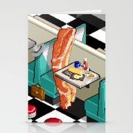 Stationery Cards featuring Bacon Detective by Uri Tuchman