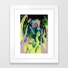 Skating pirate. Framed Art Print