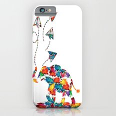 Baby elephant with paper planes iPhone 6 Slim Case