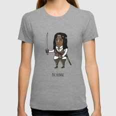 The Walking Dead, Michon… Womens Fitted Tee Tri-Grey SMALL