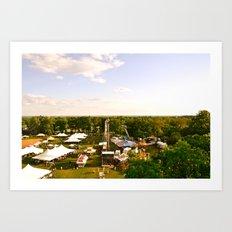 The Delaware Flower Market Art Print