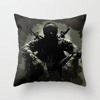 Call Of Duty Camo Throw Pillow